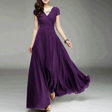 Women Long Formal Prom Party Bridesmaid Chiffon Ball Gown Evening Cocktail Dress