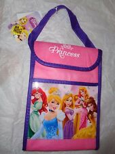 "Disney Princesses Insulated Lunch Bag w/Velcro Closure.  7"" X 10""."