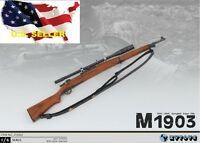 """1/6 M1903 Springfield Rifle WWII US Army Weapon 12"""" figure hot toys BBI ❶USA❶"""