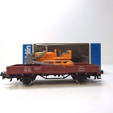 Niederbordwagen Planierraupe ohne Dach WIKING 655 DB Märklin 4424 H0 OVP (FHL)