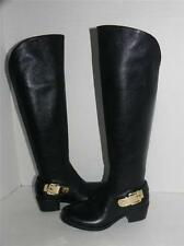 Vince Camuto Bedina Black Leather Buckle Equestrian Riding Boots 6