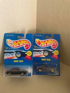 Hot Wheels Mattel Lot 2X BMW 850i Collector #255 Gold Medal Speed V28