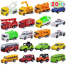 Joyin 20 Piece Pull Back Die Cast Metal Toy Car Model Vehicle Set for Toddlers,