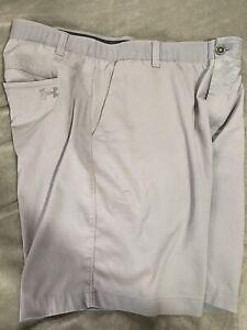 under armour mens heat gear golf shorts  gray 38