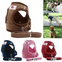 Pet Dog Mesh Vest Harness and Leash Set with Cute Bell for Dogs Puppy Cats