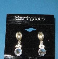 Bloomingdales Brilliant Crystal Dangle Earrings New