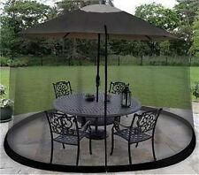 7.5' Outdoor Umbrella Table Screen Black Insects Mosquitoes Safe Bugs Screened