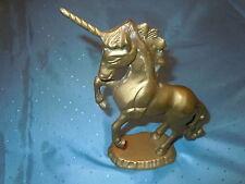 VINTAGE HEAVY SOLID BRASS UNICORN HORSE OLD QUALITY MYTHOLOGY CREATURE