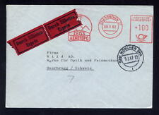 EXPRESS COVER 1962 METER ADVERT ENVELOPE ZEISS AEROTOPO
