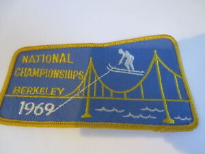 1969 National Championships water ski embroidered patch VINTAGE