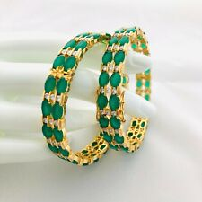 2.6 size Green Emerald Bangles/Green Stone Bangles/GreenBangles/Green CZ Bangles