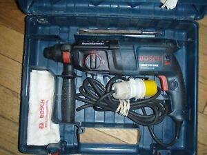 Bosch 2-26 DRE Professional, 4 function hammer SDS Plus Drill 110V, 300w, &Case.