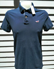 NWT HOLLISTER EPIC FLEX STRETCH BLUE POLO SHORT SLEEVE SHIRT LARGE
