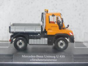 Busch 50911 1/87 Mercedes Unimog U430 Straßenmeister/Street Maintenance NIB