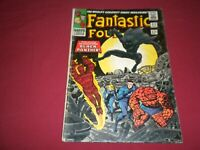 Fantastic Four #52 marvel 1966 silver age 3.0/3.5 comic! 1ST BLACK PANTHER! WOW!