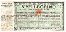 V3 1900s San Pellegrino Medicinal Mineral Water Label Stephens Collection