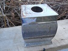 VINTAGE CHROME BRASS TISSUE HOLDER