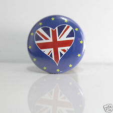 2 Badges Europe [25mm] PIN BACK BUTTON United Kingdom