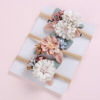 Baby Headband Pearl Floral Girl Elastic Hairband Photography Hair Accessories