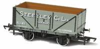 Oxford Rail 76MW7024 OO Gauge 7 Plank Wagon Steetley and Co Llynclys