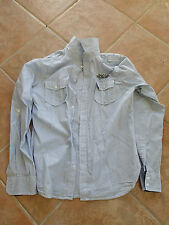 CHEMISE HOMME TAILLE 40 - TAILLE M - COTON -  BLANCHE RAYURES BLEU NEUVE