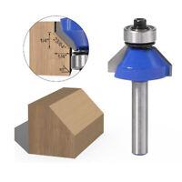 Bit de routeur de chanfrein en alliage 1/4 '' outils de travail du bois de coupe
