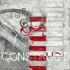 Finn: Construct Imagen TERMINADA 70x70 Mural Abstracto Moderno Gris