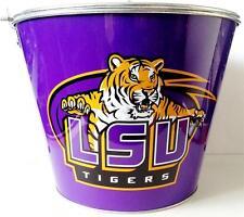 LSU TIGERS ICE BUCKET Louisiana State University Football Drink Cooler Pail