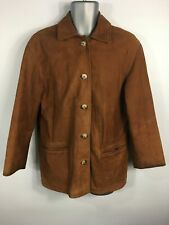 MENS BODEN BROWN SOFT LEATHER BUTTON UP SMART CASUAL JACKET COAT SIZE M MEDIUM