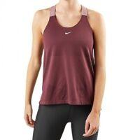 Nike Elastika Women's Vest Top Dri Fit Tank Muscle Back Gym Training Loose Fit