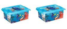 2 x Coffre a jouets boîte Fashion-Box Disney trouve Dorie 10 L