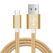 1.5m Golden Micro Usb Charging Cable for Samsung Android Mobile Phone Data Sync