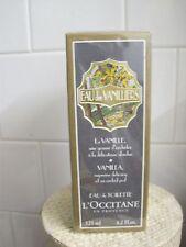 L'Occitane EAU des VANILLIERS VANILLA Eau de Toilette Spray bottle 4.2oz SEALED