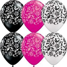 Paris Damask Latex Balloons - 6 Count - 30cm - Helium Quality