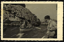 Foto-AK-blu Grotta Grotta dall'Azzurra Capri Italia Italia-Wehrmacht-2. WK