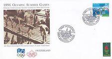 (42677) Switzerland IOC FDC Olympic Games Lausanne 1996 NO INSERT