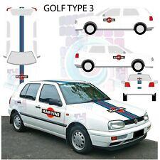 Kit deco Martini volkswagen golf type 3  - stickers sticker autocollant RACING