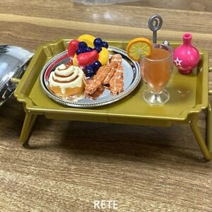 8x American Doll Grand Hotel Room Service Tray Set Bed Breakfast Food Accessory