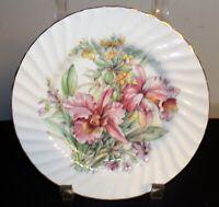 Vtg Royal Patrician collector plate Fine Bone China England Spring flowers Iris