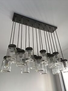 Pottery Barn Exeter 16-Jar Chandelier Light Fixture