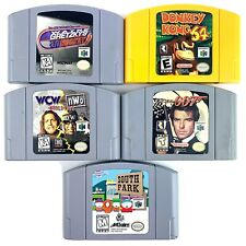 Nintendo 64 N64 - Lot of 6 Games Gretzky Donkey Goldeneye 007 WCW South Park