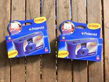 2 Polaroid Fun Shooter Outdoor disposable film cameras 400 Asa, 27 Exp. 2013