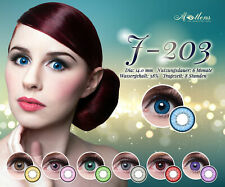 Matlens EOS Farbige Kontaktlinsen mit Stärke J-203 grün rot blau violet rosa