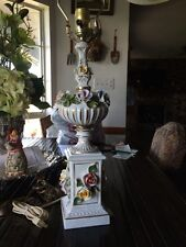 Vintage Flower Table Lamp 16 Inches Without Shade
