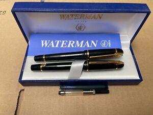 LOT 2 Waterman Phileas Fountain Pen Gloss Black
