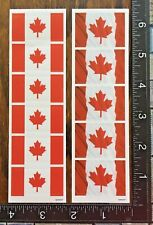 CANADA DAY FLAGS, TWO LITTLE SHEET STICKERS BEAUTIFUL DESIGNS #CANADA7
