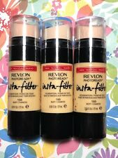 LOT OF 3 Revlon Photoready Insta-Filter Foundation 150 Buff .91oz x3