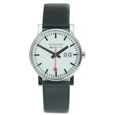 Mondaine señora reloj SBB evo Big date reloj de pulsera cuero a669.30300.11sbb