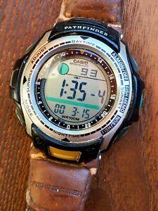 Vintage Casio Pathfinder Fishing Timer Watch PAS-400B Moonage Made In Korea