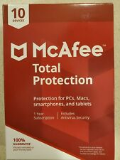 McAfee Total Protection 2020 10 Devices 1 Year KEY CARD